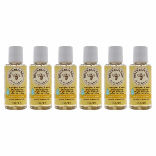 Burt's Bees Baby Bee Shampoo and Wash  Pack of 6 Shampoo and Body Wash 1.8 oz Perspective: front