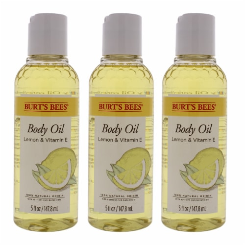 Burt's Bees Body Oil  Lemon and Vitamin E  Pack of 3 5 oz Perspective: front