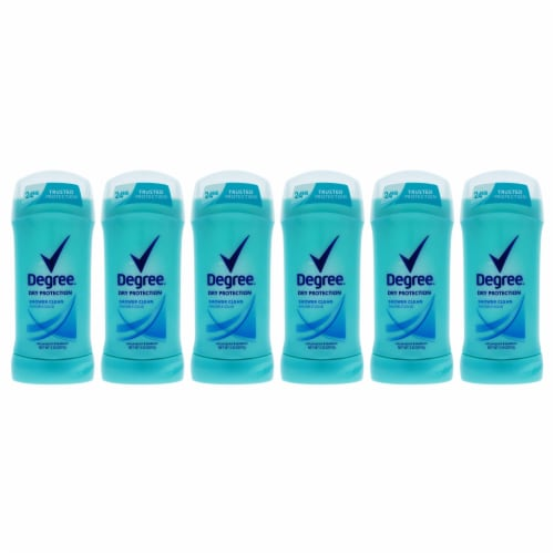 Degree Dry Protection Shower Clean AntiPerspirant and Deodorant Stick  Pack of 6 2.6 oz Perspective: front