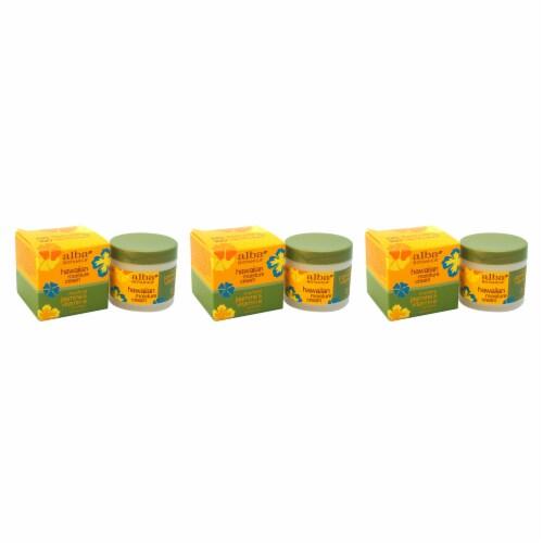 Alba Botanica Hawaiian Moisture Cream Jasmine & Vitamine  Pack of 3 3 oz Perspective: front