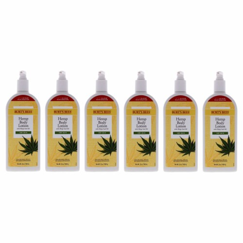 Burt's Bees Hemp Body Lotion  Pack of 6 12 oz Perspective: front