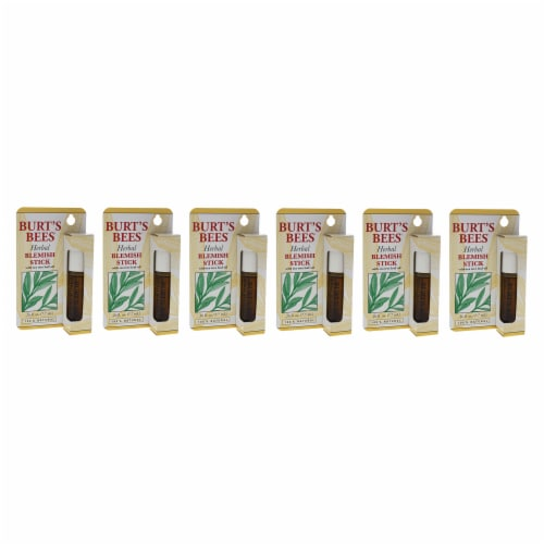 Burt's Bees Herbal Blemish Stick  Pack of 6 Treatment 0.26 oz Perspective: front