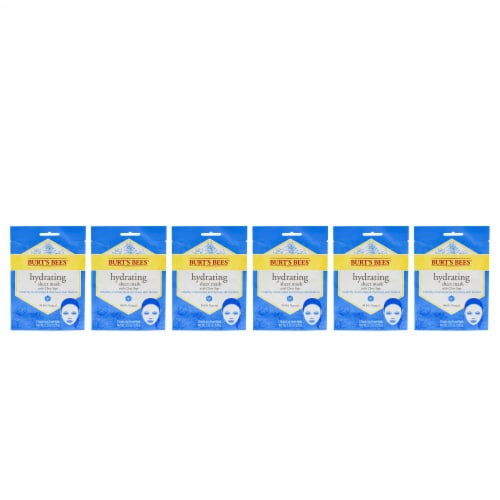Burt's Bees Hydrating Sheet Mask with Clary Sage  Pack of 6 0.33 oz Perspective: front