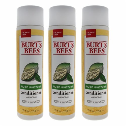 Burt's Bees More Moisture Baobab Conditioner  Pack of 3 10 oz Perspective: front
