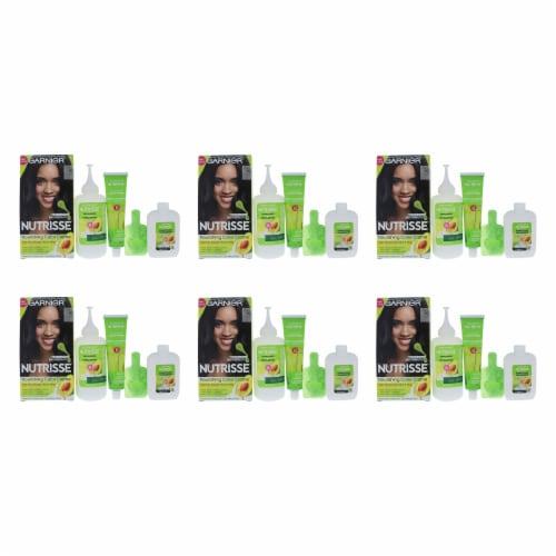 Garnier Nutrisse Nourishing Color Creme  10 Black  Pack of 6 Hair Color 1 Application Perspective: front