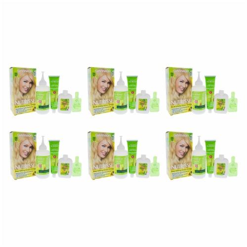 Garnier Nutrisse Nourishing Color Creme  100 Extra Light Natural Blonde  Pack of 6 Hair Color Perspective: front