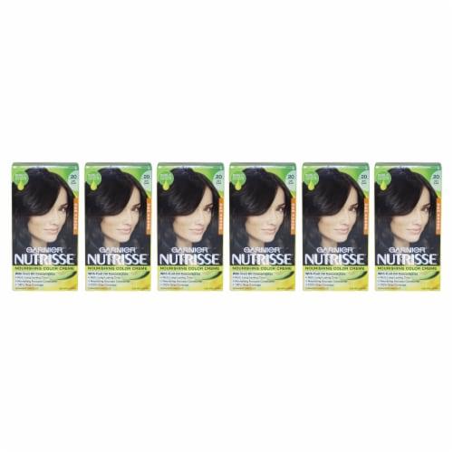 Garnier Nutrisse Nourishing Color Creme  20 Soft Black  Pack of 6 Hair Color 1 Application Perspective: front
