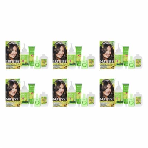 Garnier Nutrisse Nourishing Color Creme  51 Medium Ash Brown  Pack of 6 Hair Color 1 Applicat Perspective: front