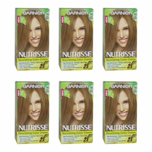 Garnier Nutrisse Nourishing Color Creme  70 Dark Natural Blonde  Pack of 6 Hair Color 1 Appli Perspective: front
