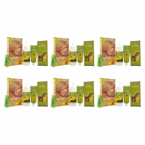 Garnier Nutrisse Nourishing Color Creme  90 Light Natural Blonde  Pack of 6 Hair Color 1 Appl Perspective: front