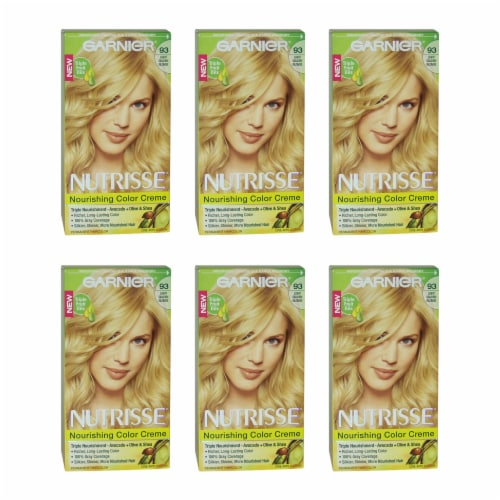 Garnier Nutrisse Nourishing Color Creme  93 Light Golden Blonde  Pack of 6 Hair Color 1 Appli Perspective: front