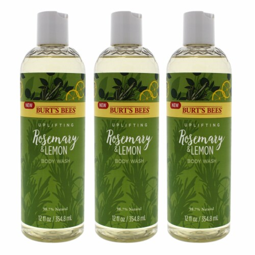 Burt's Bees Rosemary and Lemon Body Wash  Pack of 3 12 oz Perspective: front
