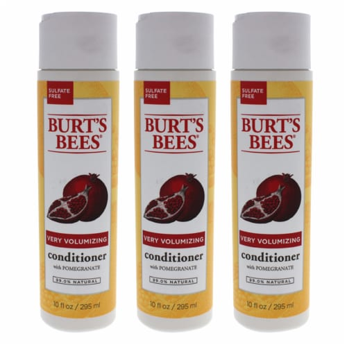 Burt's Bees Very Volumizing Pomegranate  Pack of 3 Conditioner 10 oz Perspective: front