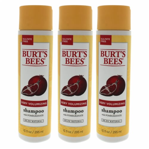 """""""""""Burt's Bees Very Volumizing Pomegranate  Pack of 3 Shampoo 10 oz"""""""" Perspective: front"""