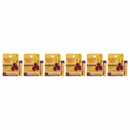 Burt's Bees Wild Cherry Moisturizing Lip Balm Blister  Pack of 6 0.15 oz Perspective: front
