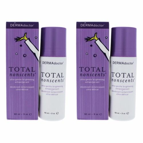DERMAdoctor Total NonScents UltraGentle Brightening Antiperspirant  Pack of 2 Deodorant 3 oz Perspective: front
