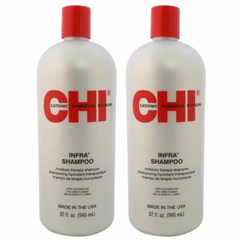 Moisture Therapy Infra Shampoo by CHI for Unisex - 32 oz Shampoo - Pack of 2 Perspective: front
