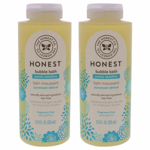 Honest Bubble Bath  Fragrance Free  Pack of 2 12 oz Perspective: front