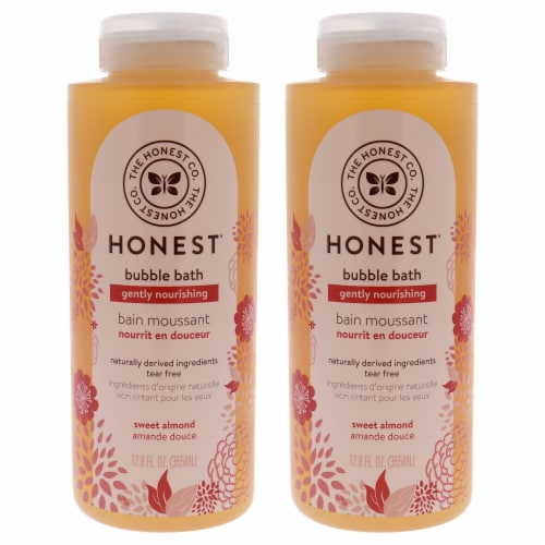 Honest Bubble Bath Gently Nourishing  Sweet Almond  Pack of 2 12 oz Perspective: front