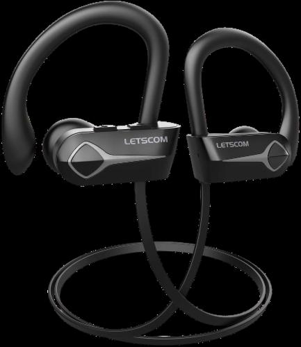 Letsfit U8L Bluetooth Headphones - Black/Gray Perspective: front