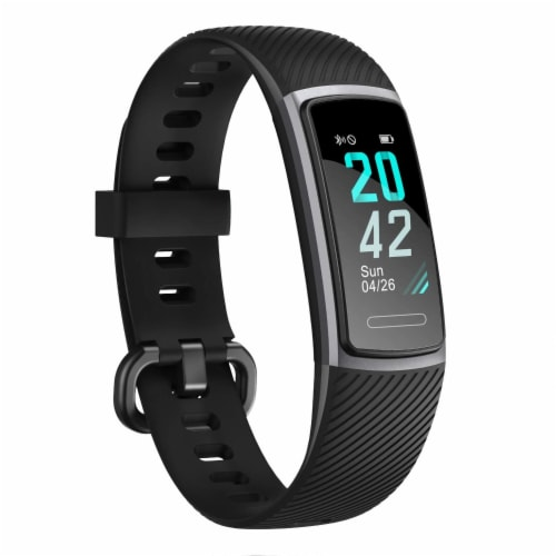 Letsfit ID152 Water Resistant Heart Rate & Activity Monitor - Black Perspective: front