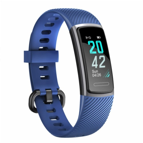 Letsfit ID152 Water Resistant Heart Rate & Activity Monitor - Blue Perspective: front