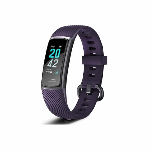 Letsfit ID152 Water Resistant Heart Rate & Activity Monitor - Purple Perspective: front