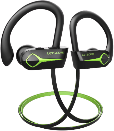 Letsfit U8L Bluetooth Headphones - Green/Black Perspective: front