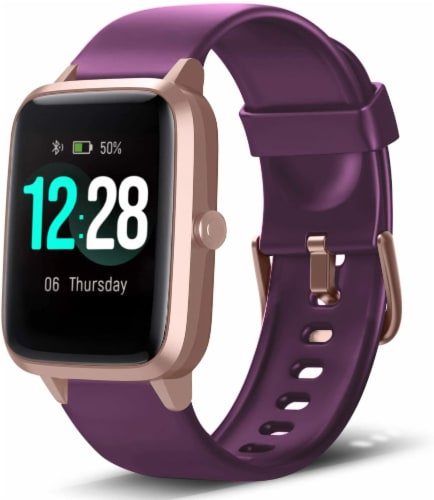 Letsfit ID205L Smartwatch Heart Rate & Activity Monitor - Purple Perspective: front