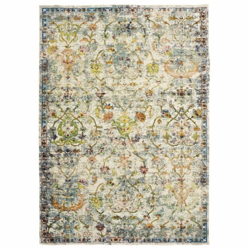 LR Home GALAC81271GMI4060 Gala Old World Victorian Indoor Area Rug - 4 x 6 ft. Perspective: front