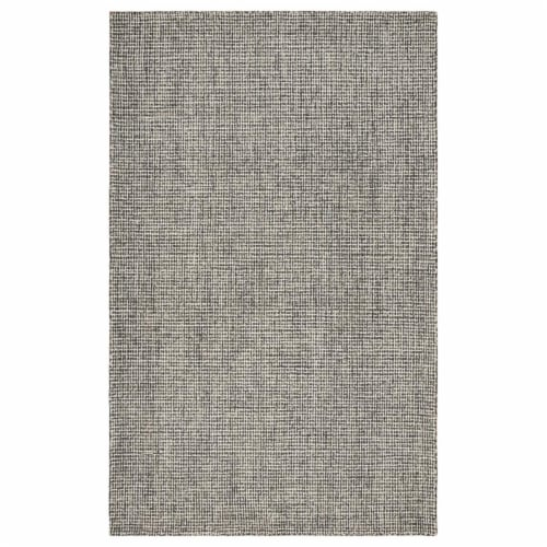 LR Home CRISS81297GRY5079 Criss Cross Slate Basketweave Indoor Area Rug, Gray - 5 ft. x 7 ft. Perspective: front