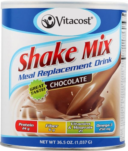Vitacost  Meal Replacement Drink   Chocolate Perspective: front