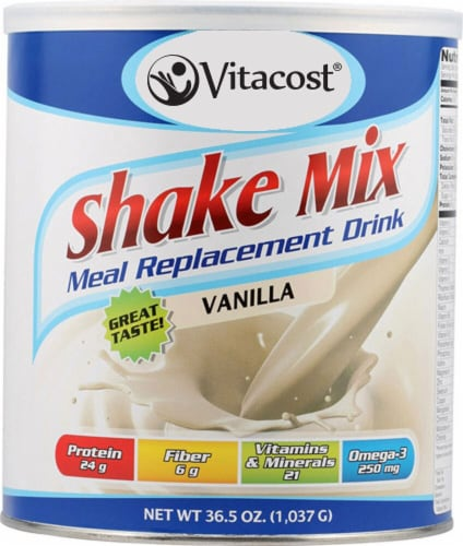 Vitacost  Meal Replacement Drink   Vanilla Perspective: front