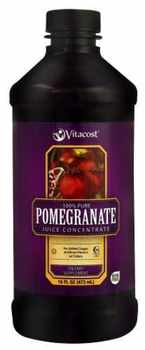 Vitacost 100% Pure Pomegranate Juice Concentrate Dietary Supplement Perspective: front