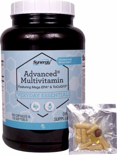 Vitacost Synergy Advanced Multivitamin Dietary Supplement Capsules & Softgels Perspective: front