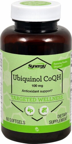 Vitacost Synergy Ubiquinol Softgels Perspective: front