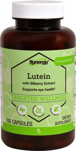 Vitacost  Synergy Lutein with Bilberry Extract Featuring FloraGlo Perspective: front