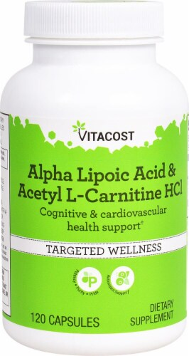 Vitacost Alpha Lipoic Acid & Acetyl L-Carnitine HCl Capsules Perspective: front