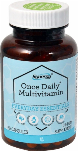 Vitacost Synergy Once Daily Multivitamin Capsules Perspective: front