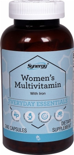 Vitacost Synergy Women's Multivitamin with Iron Capsules Perspective: front