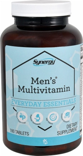 Vitacost Synergy Men's Multivitamin Tablets Perspective: front