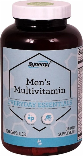 Vitacost Synergy Men's Multivitamin Capsules Perspective: front