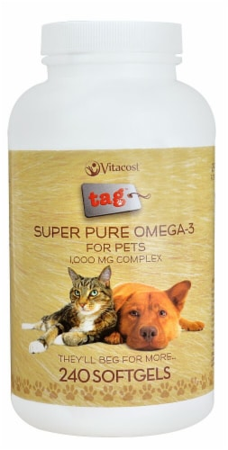 Vitacost - Tag Super Pure Omega-3 for Pets Softgels 1000mg Perspective: front