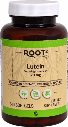 Vitacost ROOT2 Lutein Softgels 20mg Perspective: front