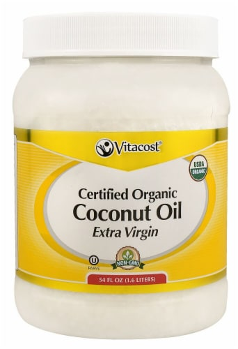 Vitacost Extra Virgin Certified Organic Coconut Oil Perspective: front
