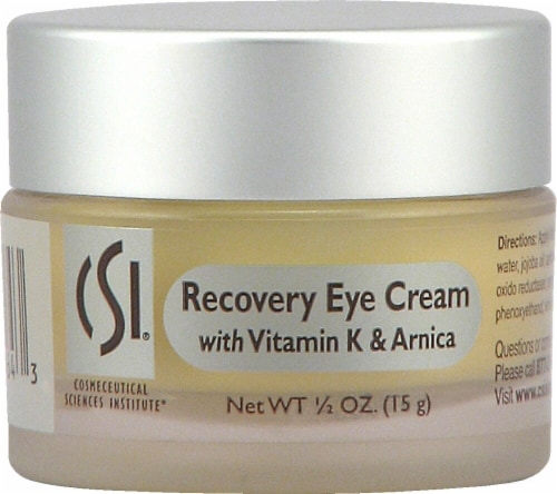 CSI  Recovery Eye Cream with Vitamin K & Arnica - Non-GMO Perspective: front