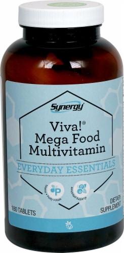 Vitacost Synergy Viva Mega Food Multivitamin Tablets Perspective: front