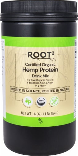 Vitacost Root2 Organic Hemp Protein Powder Perspective: front
