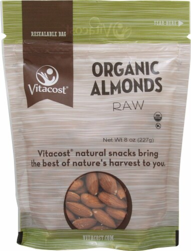 Vitacost  Organic Raw Almonds Perspective: front