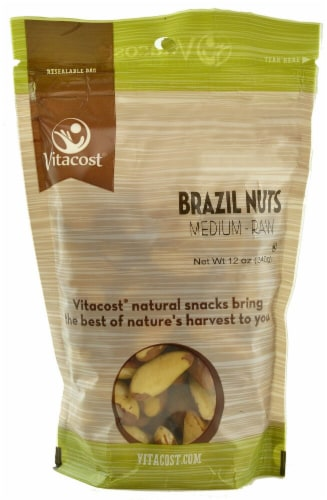 Vitacost  Brazil Nuts Unsalted Perspective: front